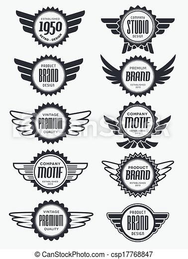 Vintage retro badges and labels - csp17768847