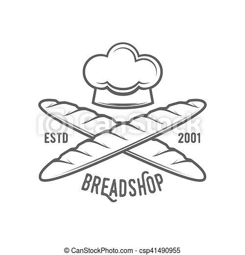vintage retro bakery logo badge or label - csp41490955
