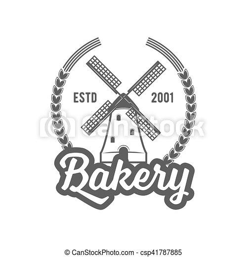 vintage retro bakery logo badge or label - csp41787885
