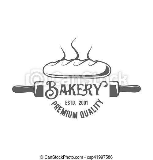 vintage retro bakery logo badge or label - csp41997586