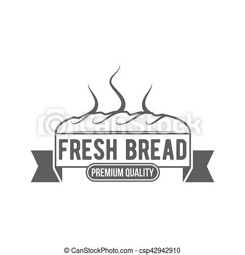 vintage retro bakery logo badge or label - csp42942910