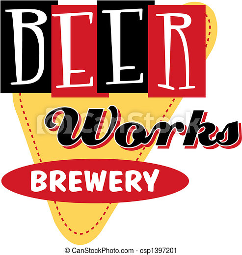 Vintage Retro Beer Sign Clip Art - csp1397201
