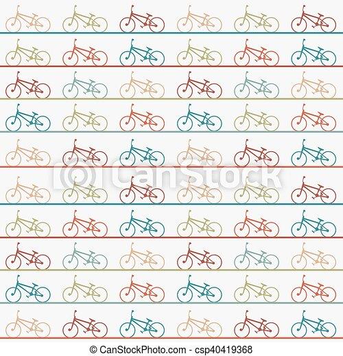Vintage retro bicycle background - csp40419368