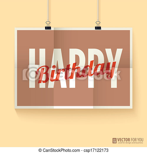 Vintage retro happy birthday card with fonts vectors illustration vintage retro happy birthday card with fonts csp17122173 bookmarktalkfo Choice Image