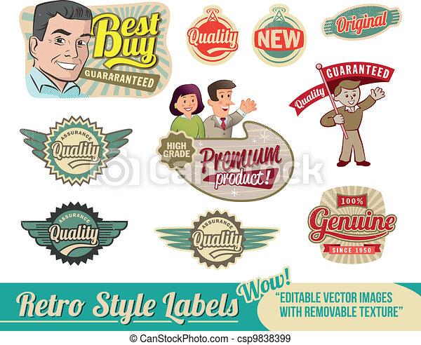 Vintage retro labels - csp9838399