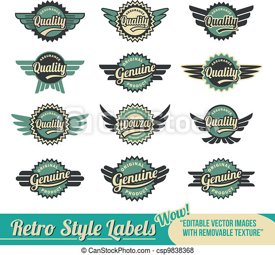 Vintage retro labels - csp9838368