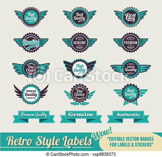 Vintage retro labels - csp9838373