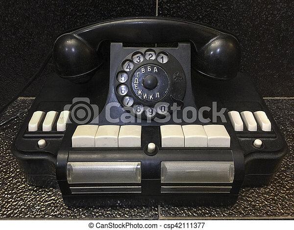 Vintage retro soviet handset phone - csp42111377
