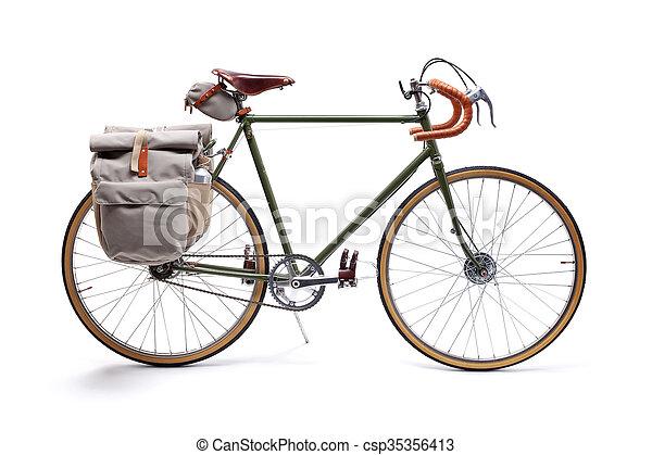 Vintage road bicycle - csp35356413