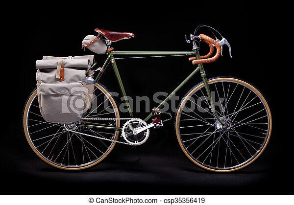 Vintage road bicycle - csp35356419