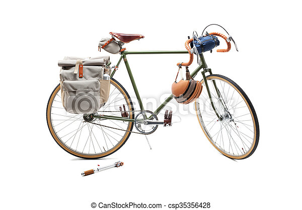 Vintage road bicycle - csp35356428