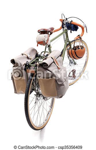 Vintage road bicycle - csp35356409