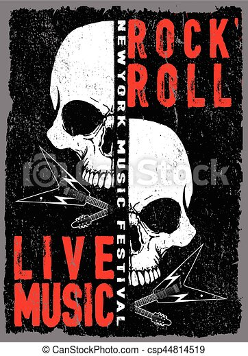 vintage rock and roll typographic for t shirt tee design poster