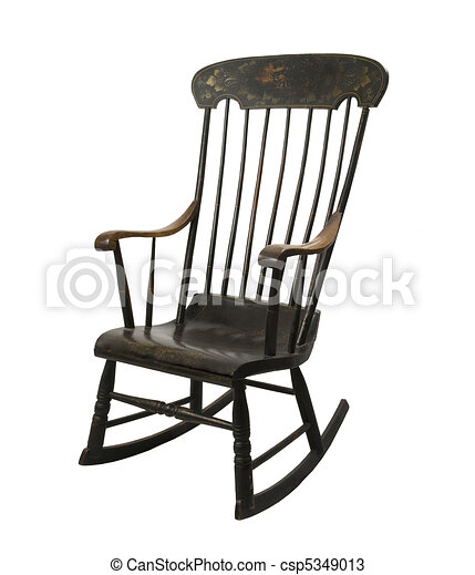 Vintage Rocking Chair Stock Illustration