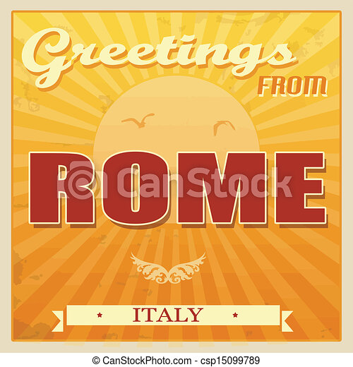 vintage rome italy poster vintage touristic greeting