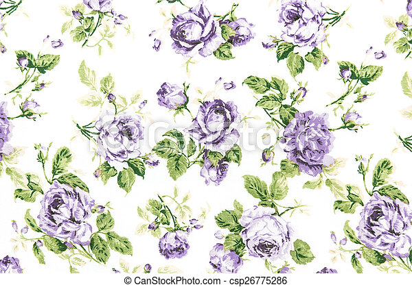 vintage rose on fabric background - csp26775286