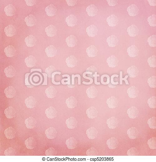 Vintage Rose Pink Scrapbook Paper Vintage Style Scrapbook Stock