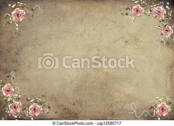 vintage roses - csp12580717