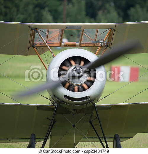 Vintage rotary engine - csp23404749