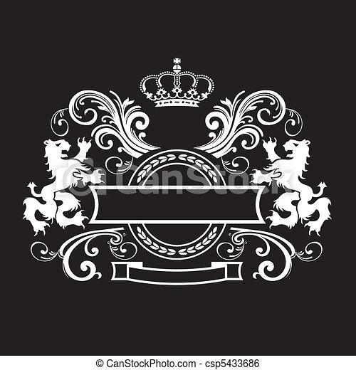 Vintage royal shield - csp5433686