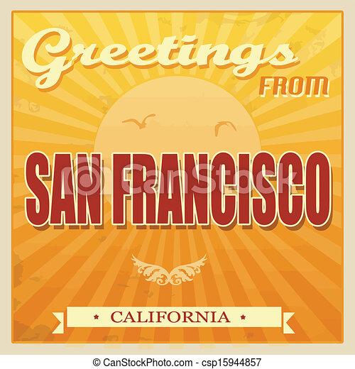 Vintage san francisco california poster vintage touristic greeting vintage san francisco california poster csp15944857 m4hsunfo