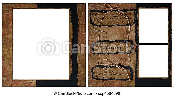 vintage scrapbook frame template csp4584590