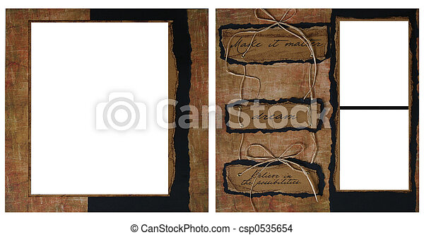 Vintage Scrapbook  - csp0535654
