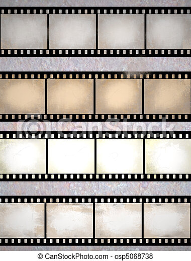 vintage scratched film strips - csp5068738