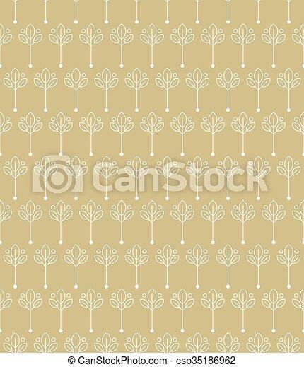 Vintage seamless floral pattern - csp35186962