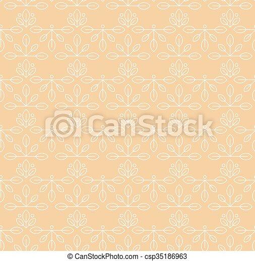 Vintage seamless floral pattern - csp35186963