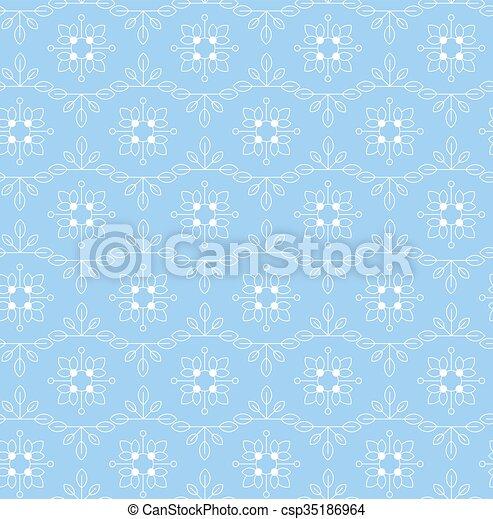 Vintage seamless floral pattern - csp35186964