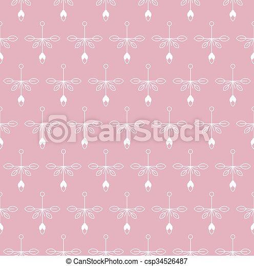 Vintage seamless floral pattern - csp34526487