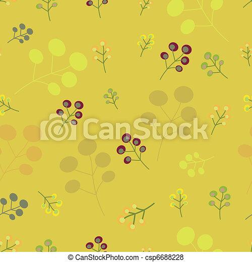 Vintage seamless floral pattern - csp6688228