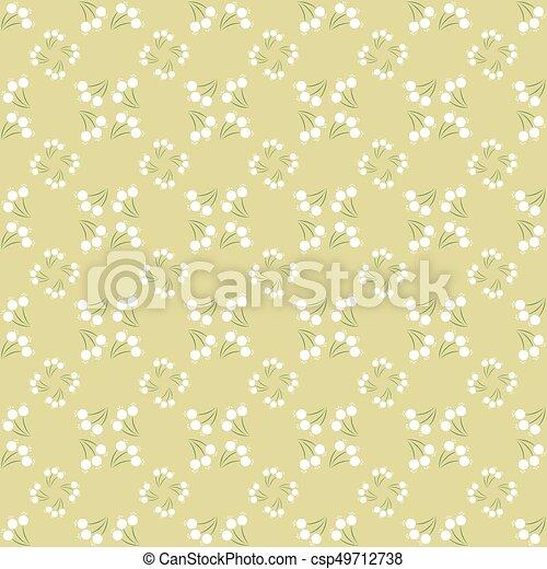 Vintage seamless floral pattern - csp49712738