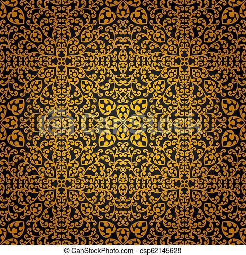 Vintage seamless floral pattern - csp62145628