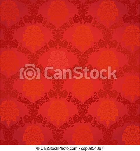 Vintage Seamless Floral pattern - csp8954867