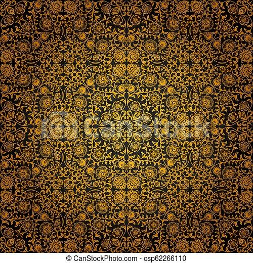 Vintage seamless floral pattern - csp62266110