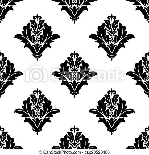 Vintage seamless floral pattern - csp20528406