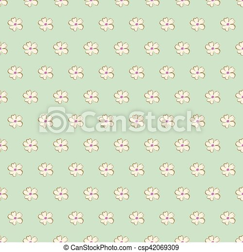 Vintage Seamless Floral Pattern. - csp42069309