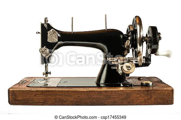 Vintage sewing machine - csp17455349