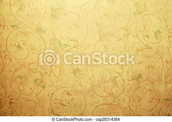 Vintage Shabby Chic Wallpaper With Pastel Vignette Floral Victorian Pattern