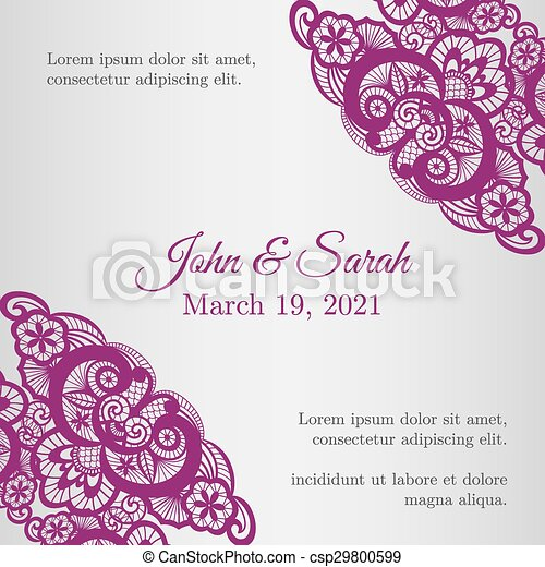 Vintage silver wedding invitation cover with lace eps vectors vintage silver wedding invitation cover with lace decoration csp29800599 junglespirit Image collections