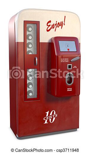Vintage Soda Machine - csp3711948