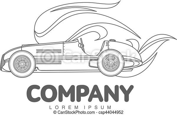 Vintage sport racing car - csp44044952