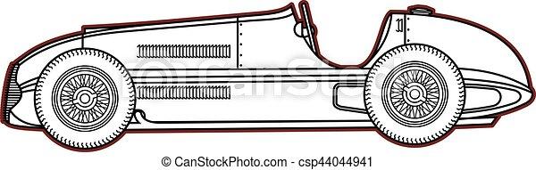 Vintage sport racing car - csp44044941