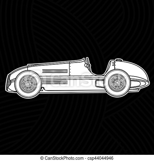 Vintage sport racing car - csp44044946