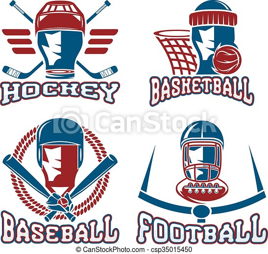 vintage sport vector labels set - csp35015450