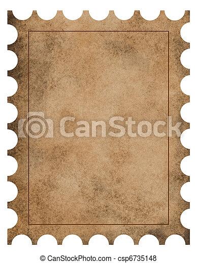 Vintage stamp background - csp6735148