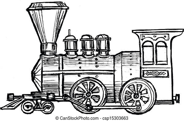 vintage steam train - csp15303663