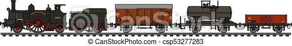 Vintage steam train - csp53277283